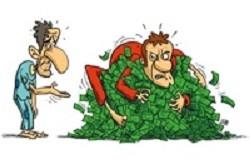 حرص و آزمندی برای پولدا شدن