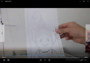 آموزش تشخیص کارت در عروسک بافی با ماشین