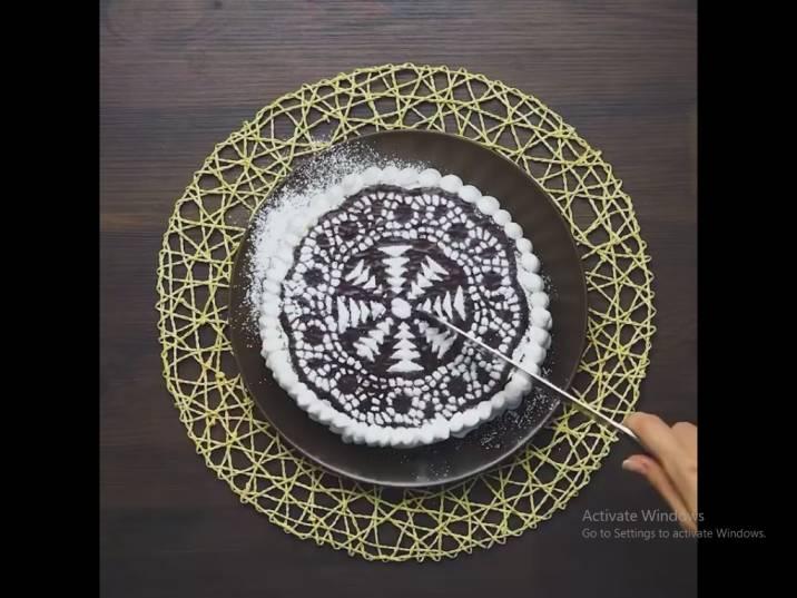ایده تزئین خلاقانه کیک