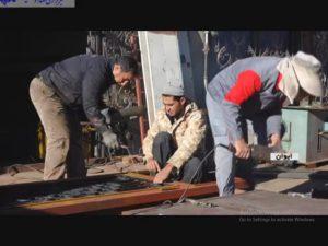 کار و تلاش در کارگاه جوشکاری