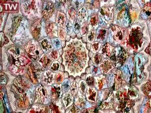 ایده جدید بافت فرش گرد توسط احد عظیم زاده