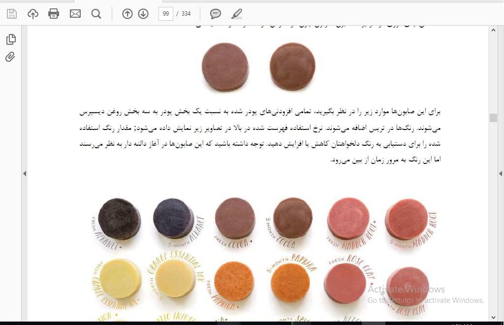 انواع رنگ ها در صابونسازی