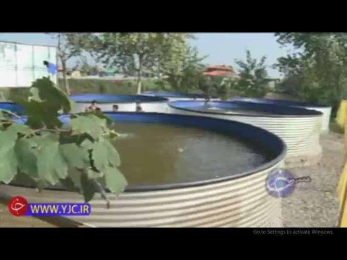 نصب استخرهای پیش ساخته پرورش ماهی خاویار