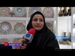 خانم حیدری: کارآفرینی با راه اندازی کارگاه میناکاری