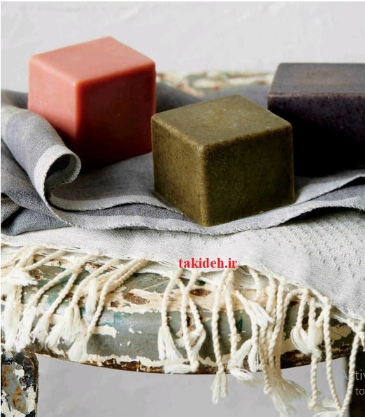 صابون مکعبهای چند رنگ اسپیرولینا و کامفری