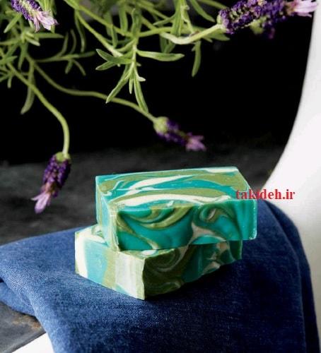 صابون آلوئه ورا با دیزاین چرخشی