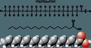 فرمول مولکولی و ساختاری استئاریک اسید