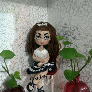 آموزش قلاب باف عروسک دختر قرتی اندامی
