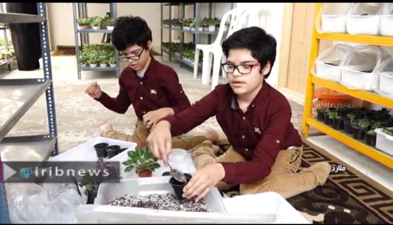 کارآفرینی برادران معلول با پرورش گل در خانه