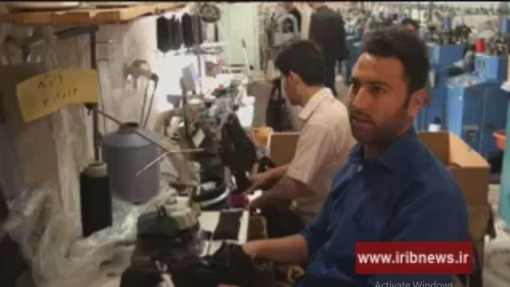 رضایت سردوز جوراب ها از کار در کارگاه جوراب بافی