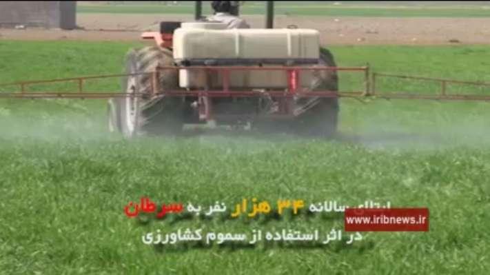 افزایش بیماری های مزمن و انواع سرطان با مصرف سموم کشاورزی