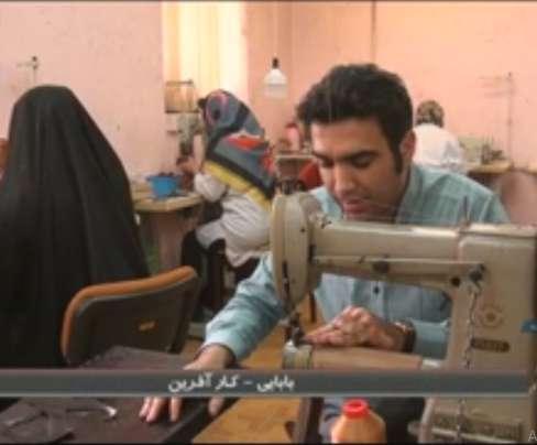 بابایی کارآفرینی در حوزه تولید دست دوزهای چرمی