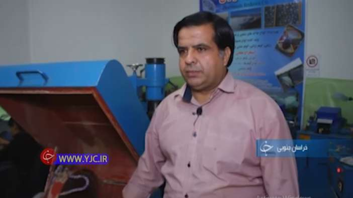اقای جامعی کارافرین در حوزه گوهر تراشی و تراش سنگ های قیمتی