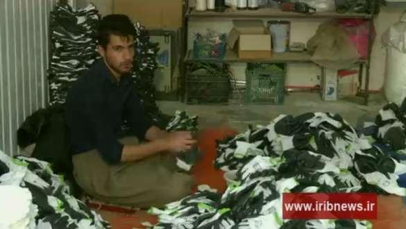 تولید روزانه 1200 جفت جوراب در کارگاه تولید جوراب