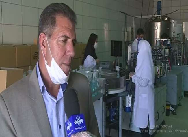 علی حسن آبادی، کارآفرین در حوزه تولید مواد ضدعفونی