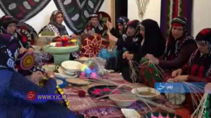 کلبه هنر خانم درویشی کارآفرین در حوزه صنایع دستی