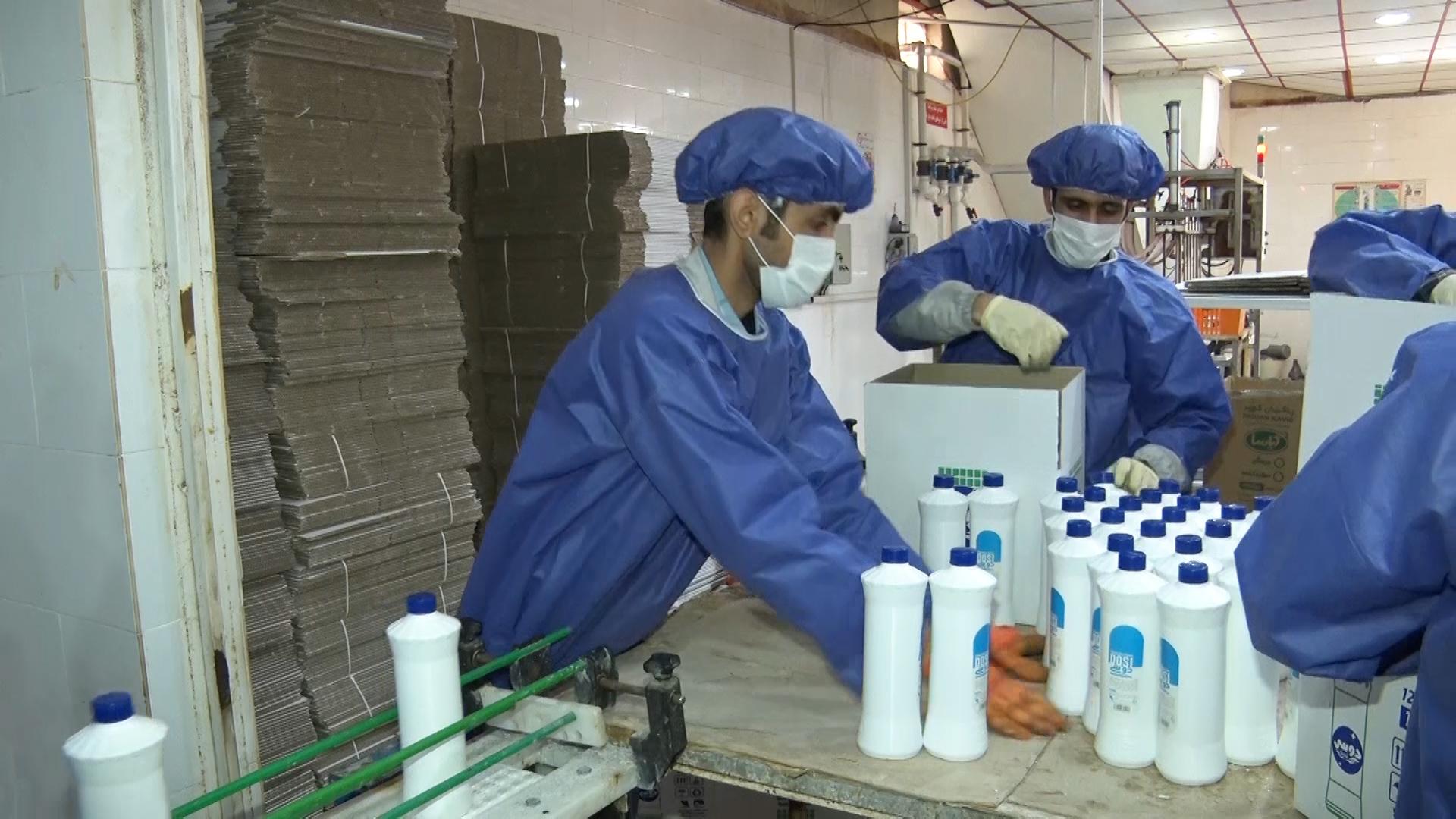 تولید ضدعفونیکننده بدون الکل در کاشان