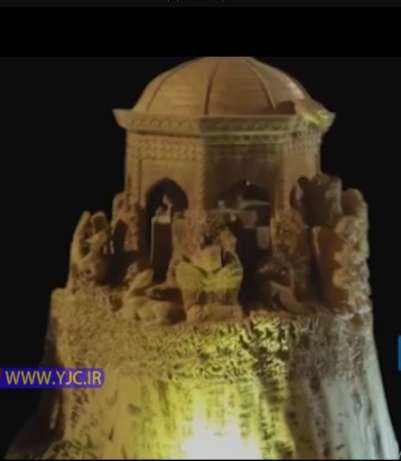 پیکرتراشی روی چوب سقاخانه ی اسماعیل طلای مشهد