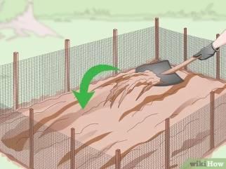 کف چاله را کمی خاک نرم بریزید