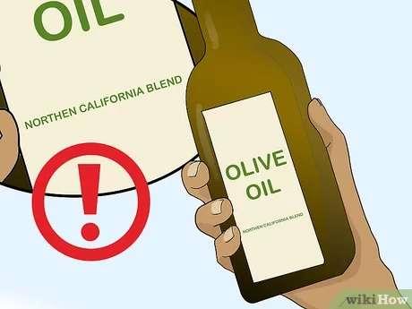بررسی برچسب بطری روغن زیتون