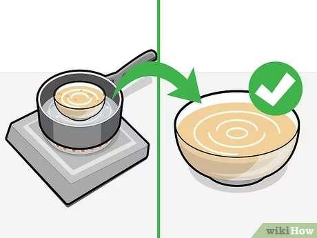 ذوب کردن صابون برداشتن صابون از روی حرارت