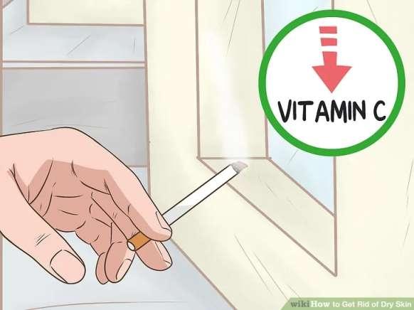 اجتناب از سیگار کشیدن برای درمان پوست خشک
