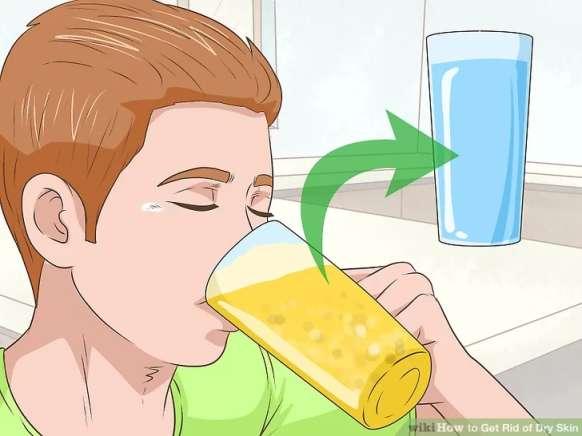 محود کردن نوشیدنی های الکلی برای درمان پوست خشک