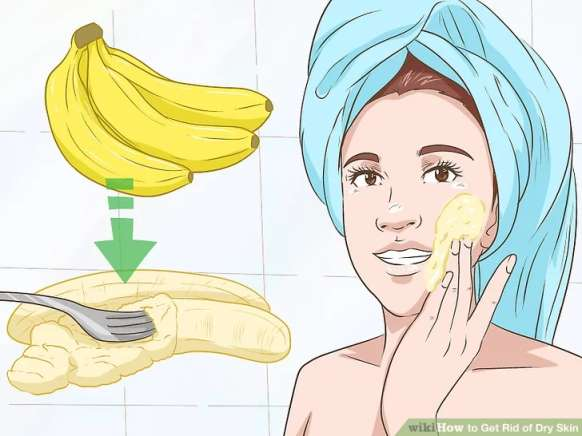 استفاده از موز برای درمان پوست خشک
