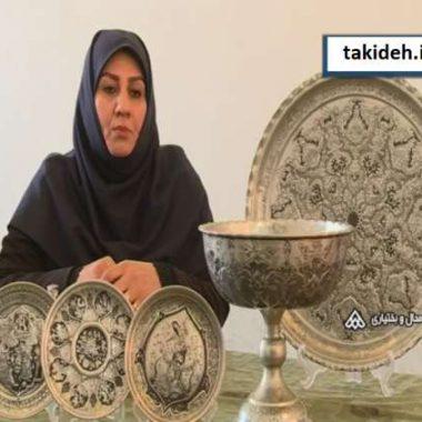 سهیلا احمدی دستگردی، کارآفرین در حوزه آموزش قلم زنی